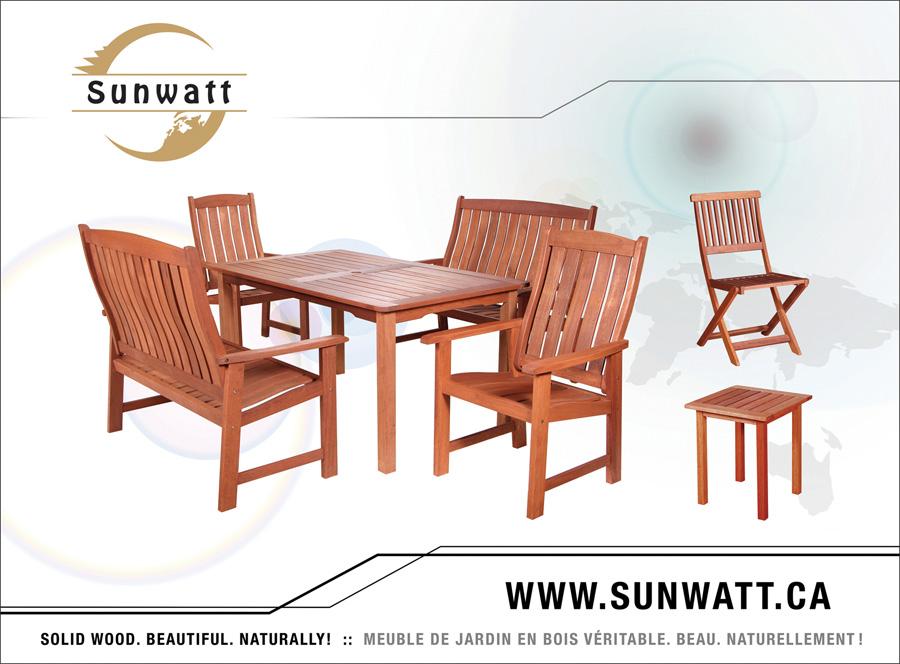 Sunwatt Ltd. - Meubles de jardin en bois véritable